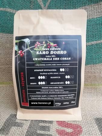 Kawa Dolla ziarnista - Samo Dobro  GWATEMALA SHB